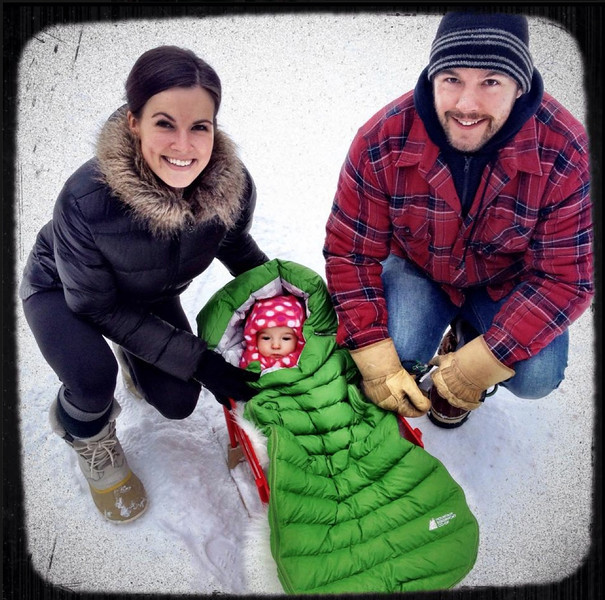 Sledding ~ Emmy is in the same sleigh Kristen had as a baby