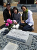 Tom, Masako, & Grace, happy about Emery's monument.