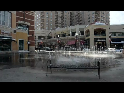 Gateway mall outdoor fountains.  This mall and fountain was built for the 2002 winter Olympics in Salt Lake City.