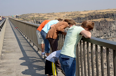 Looking from Perrine Bridge, Twin Falls, Idaho