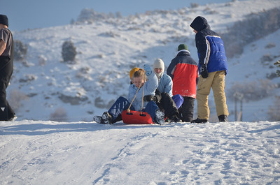 Sledding in Logan Utah New years Eve day 2012