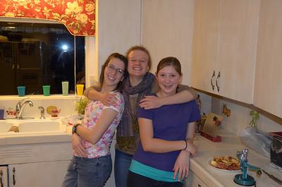 Merissa, Emilie, Kendra at Kyle Jaussi home in Smithfield Utah 11-21-12