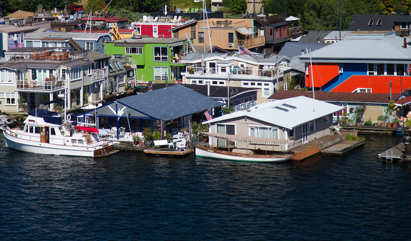 Houseboats on Lake Union.