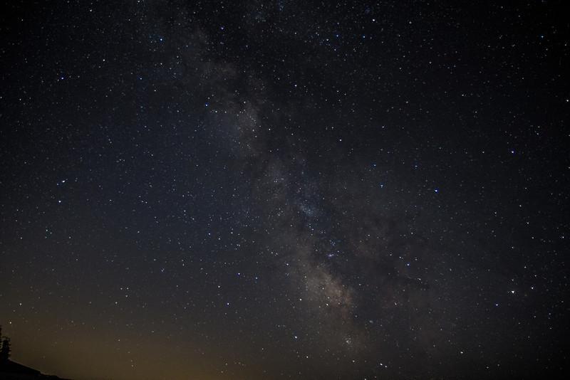 Milky Way from Hurricane Ridge.