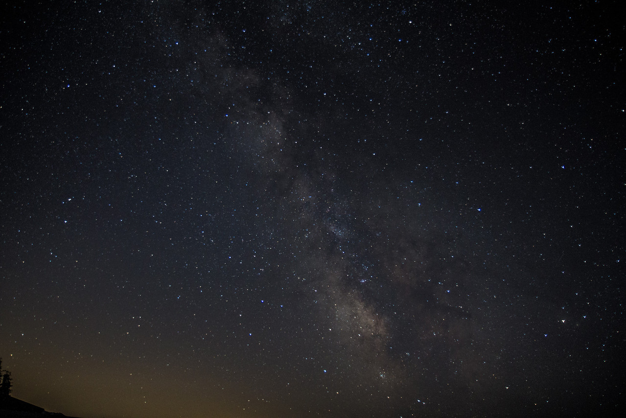 Milky Way from Hurricane Ridge.