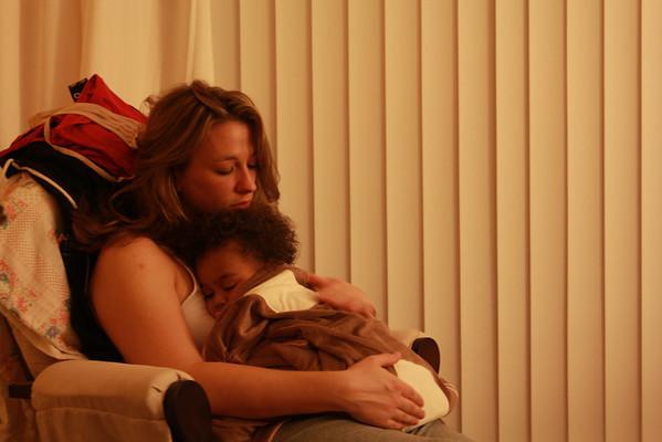 Emily and a Sick Quinn