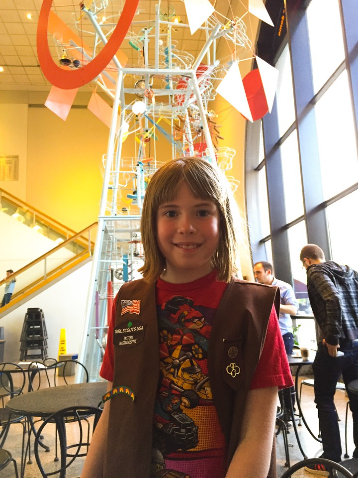 Girl Scout overnight at The Museum of Science