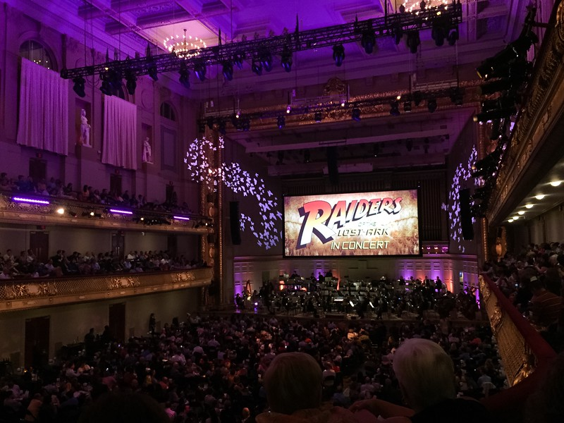 "Boston Pops perform ""Raiders of the Lost Ark"" live to the movie."