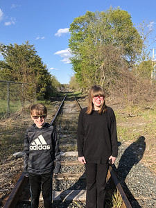 Checking out the old Salem rail line.