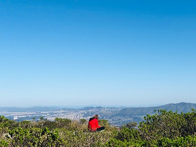 Sitting atop an abandoned Nike missile radar site. South San Francisco in the background.