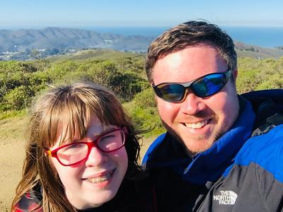 Sweeney Ridge Trail, San Bruno. 1.8 mile hike up.