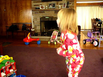 Emily sings the theme song for Caillou (January 24, 2010).