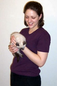 Emily (pre-babies) holding Petite