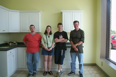 Ian, Emily, Alex, Dave - posing at Divine Designs Showroom - 2002
