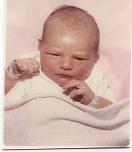Emily Rose Ferguson - newborn pic from RVH - born March 20, 1982 at 9:09 p.m. - 8 lbs even