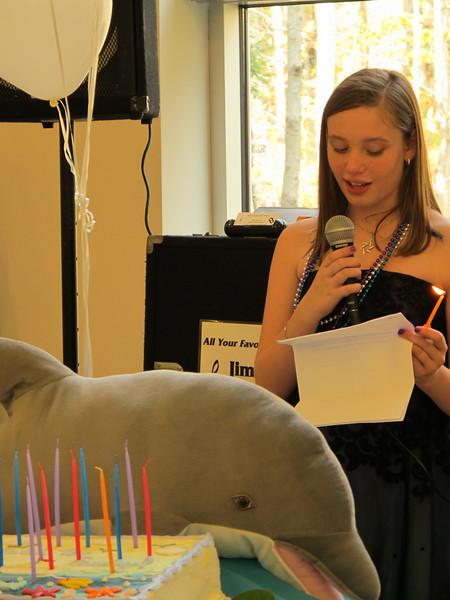 Emily & dolphin