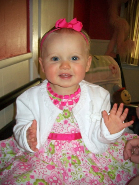 Emily is all ready for her 1st Birthday Party<br /> Photo by Beverly Simmons