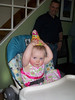 Emily <br /> Apparently the party hat didn't stay on very long/<br /> Photo by Beverly Simmons