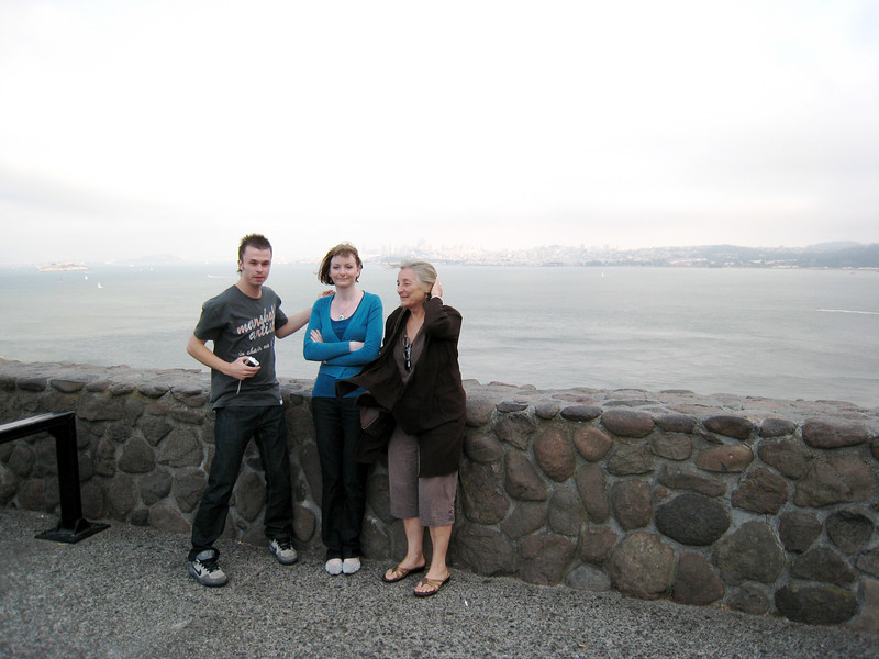 <b>IMG_5712</b><br> James, Emma and JoLynn shivering with San Francisco in the background.