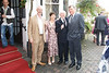 Derry Shortt, the bride's uncle, Maire Taylor, the bride's mother with Aiden Hennigan O.B.E. and Barry Irving.