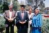 Toni Adami, Dennis Adami, Monika Adami and Emmi Wessel at Monash University in approx 1990/1.