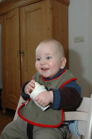 2007-02-24 op (kraam)visite bij Mark van Schaïk