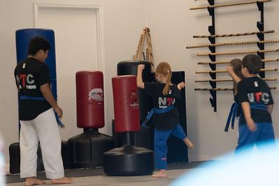 Leah and Carlie Karate