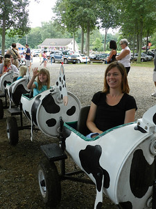 Taking a ride on the cow train