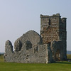 The ruined Norman church in the 5000 year old henge at Knowlton