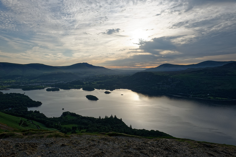Sunrise over Derwentwater from Cat Bells