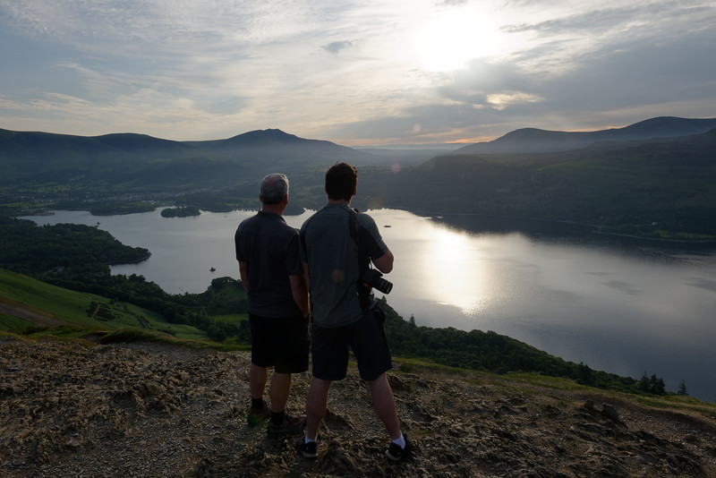 Taking it all in - Sunrise over Derwentwater from Cat Bells