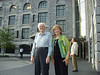 P1015416 Ellis and Carol outside the Charles Street Jail, now Liberty Hotel