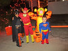 A meeting of the Jr Justice League (Halloween at KPP)