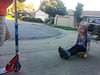 Sharing a skateboard