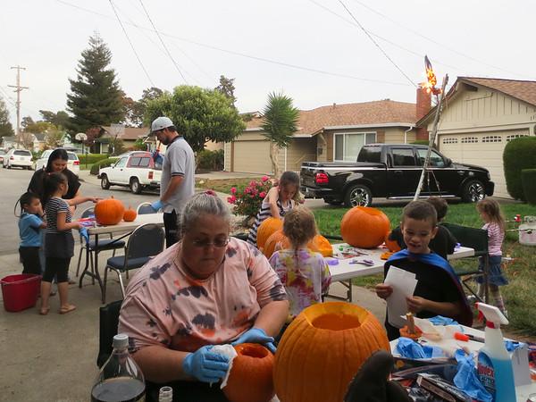 (Carving Pumpkins)