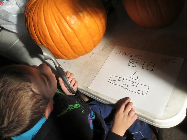 Eric Jr's Design (Carving Pumpkins on a smaller scale)