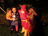 Great idea, Auntie Anna. Make 'em pose by the light of the giant, noisy blast of flame. (Halloween at KPP)