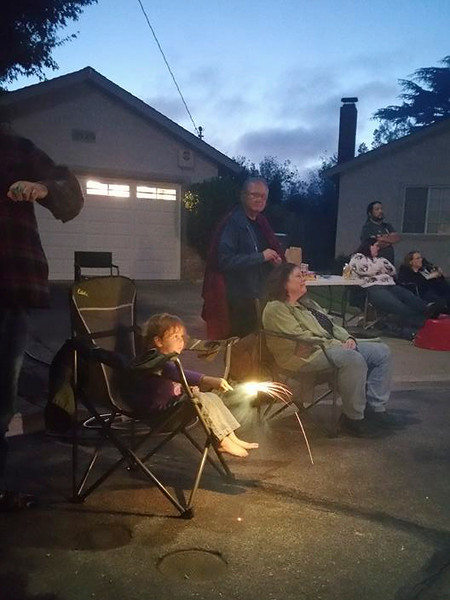 Watching the show (the man behind Anissa is her dad) (Fireworks! KPP Fourth of July)