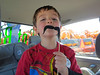 Eric's offering free moustache rides already; they grow up so fast... (2013 KPP Pumpkin Acquisition)