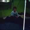 Philip in the Coleman tent.