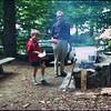 Philip tries to help Grandpa cook.