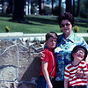 Philip (11), Stephanie (45), and Courtney (8).  Graceland - April 8, 1977.