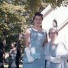 Stephanie Terni Erickson and Assunta Terni outside St. Patrick's Church, Millerton NY.  September 3, 1960.