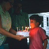 Blow out the candles for your 9th birthday, Philip.