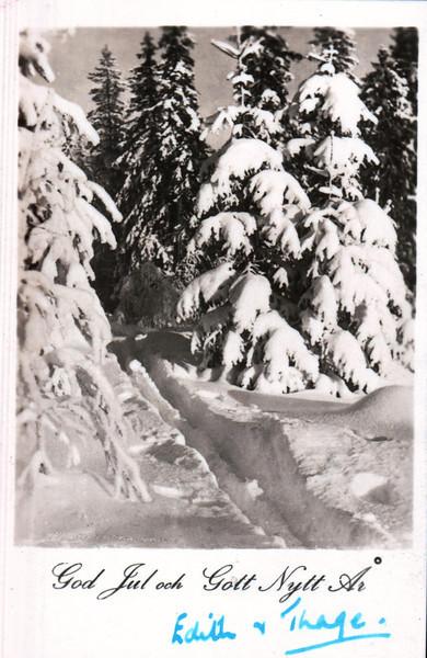 Edith Thage Christmas card