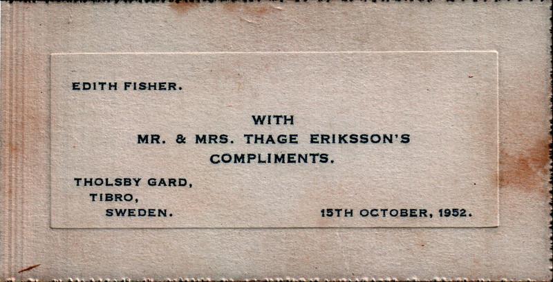 Edith Thage card 19521015