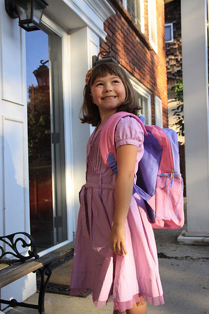 Moore Family Erin 1st Day of School First Grade