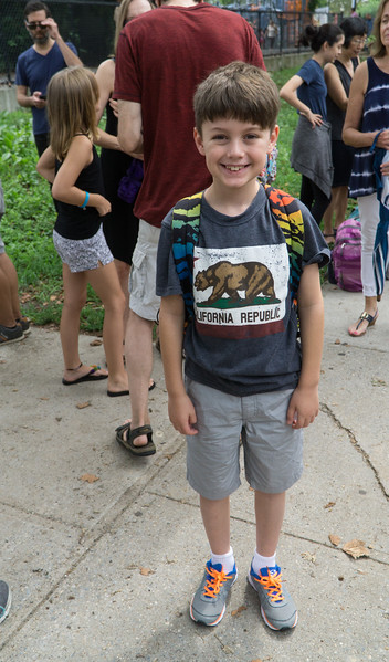 Getting ready to board the bus to camp.