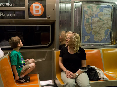 """Sammy and his """"Bamba"""" on the B Train."""