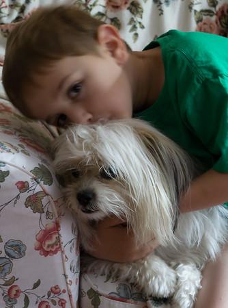 Biggie gets a hug from Sammy.